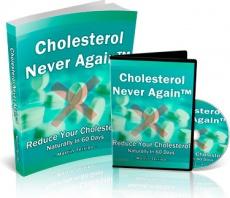 Ebook cover: Cholesterol Never Again