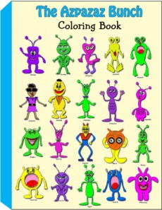 Ebook cover: Free Azpazaz Bunch Coloring Book - Free Childrens Coloring Pages - Download and Print PDF
