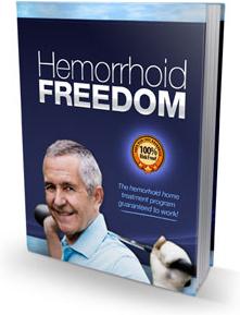 Ebook cover: Hemorrhoid Freedom
