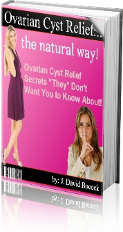 Ebook cover: Ovarian Cyst Relief