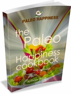 Ebook cover: Paleo Happiness Cookbook