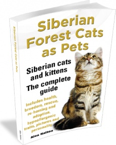 Ebook cover: Siberian Forest Cats As Pets