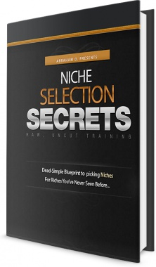 Ebook cover: Niche Selection Secrets