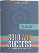 Ebook cover: Solo Ad Success Formula