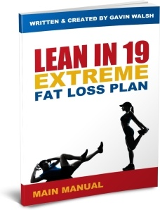 Ebook cover: Lean In 19 - Extreme Fat Loss Plan