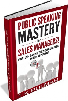 Ebook cover: Public Speaking Mastery For Sales Managers!