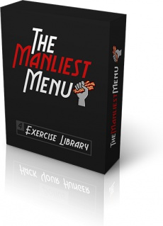 Ebook cover: The Manliest Menu and Exercise Guide