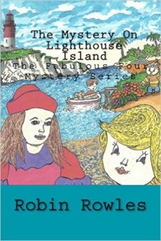 Ebook cover: The Mystery on Lighthouse Island