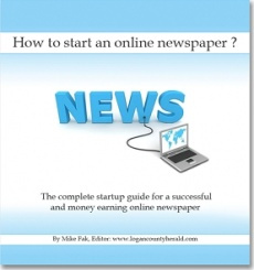 Ebook cover: Free eBook for Starting an Online Newspaper