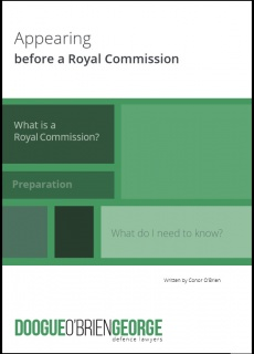 Ebook cover: Appearing Before a Royal Commission