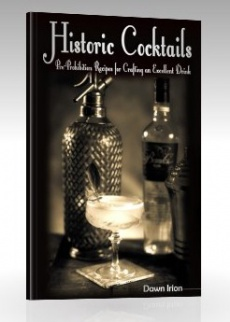Ebook cover: Historic Cocktails: Pre-Prohibition Recipes for Crafting an Excellent Drink