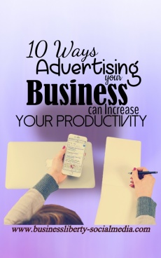 Ebook cover: 10 Ways Advertising Your Businesses Can Increase Your Productivity