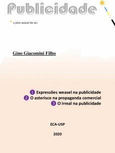 Ebook cover: Publicidade: o jeito weasel de ser.