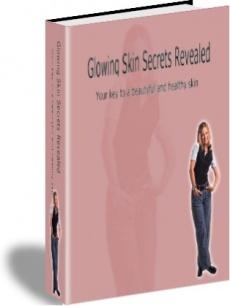 Ebook cover: Glowing Skin Secrets Revealed