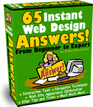 Ebook cover: 65 Instant Web Design Answers