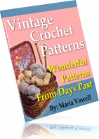 Ebook cover: 20 Wonderful Vintage Crochet Patterns!