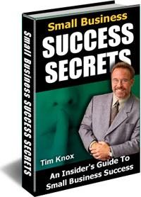 Ebook cover: Small Business Success Secrets