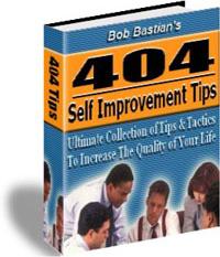 Ebook cover: 404 Self Improvement Tips