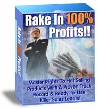 Ebook cover: Rake In 100% Profits Package