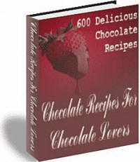 Ebook cover: Chocolate Recipes For Chocolate Lovers