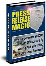 Ebook cover: Press Release Magic