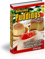 Ebook cover: Delicious Puddings