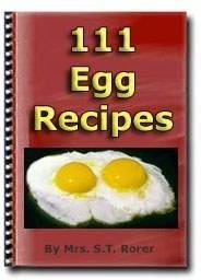Ebook cover: 111 EGG Recipes