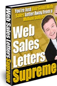 Ebook cover: Web Sales Letters Supreme