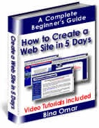 Ebook cover: How to Create a Web Site in 5 Days