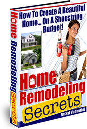 Ebook cover: Home Remodeling Secrets
