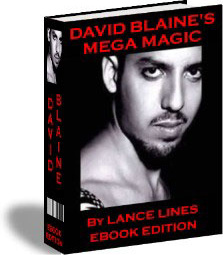 Ebook cover: David Blaine's Mega Magic
