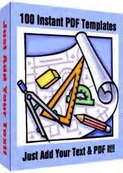 Ebook cover: 100 Instant PDF Templates