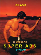 Ebook cover: Gilad 12 weeks to Super Abs