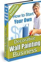 Ebook cover: Decorative Wall Painting Business