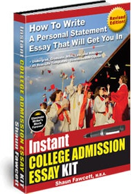 Ebook cover: Instant College Admission Essay Kit