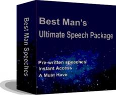 Ebook cover: BEST MAN SPEECHES