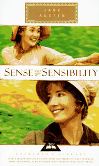 Ebook cover: SENSE AND SENSIBILITY