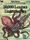 Ebook cover: TWENTY THOUSAND LEAGUES UNDER THE SEA