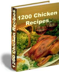 Ebook cover: 1200 Chicken Recipes