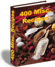 Ebook cover: 400 miscellaneous recipes