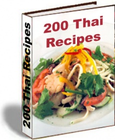 Ebook cover: 200 Thai Recipes