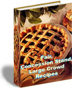 Ebook cover: Fair, Concession Stand, Large Crowd Recipes