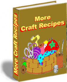 Ebook cover: More Craft Recipes