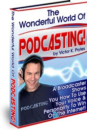 Ebook cover: The Wonderful World of Podcasting