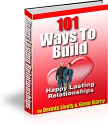 Ebook cover: 101 Ways To Build Happy Lasting Relationships
