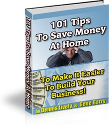 Ebook cover: 101 Tips To Save Money At Home