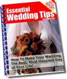 Ebook cover: Essential Wedding Tips