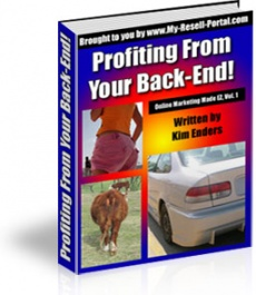 Ebook cover: Profiting From Your Back-End!
