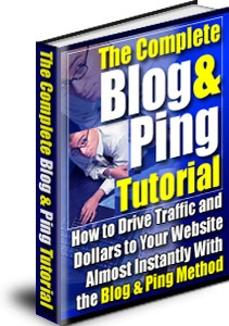 Ebook cover: The Blog and Ping Tutorial