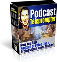 Ebook cover: PodCast Teleprompter